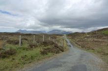 Looking back to the Cuillins