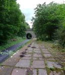 Abandoned platform on the Strathkelvin Railway Path